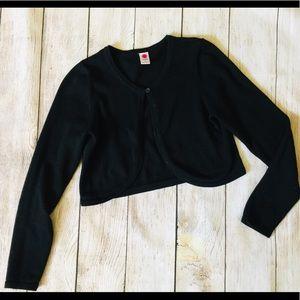 Total girl♠️Black Crop Cardigan sweater Sz: L(14)